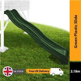 Mad Dash 2.18m Plastic Slide - Forest Green